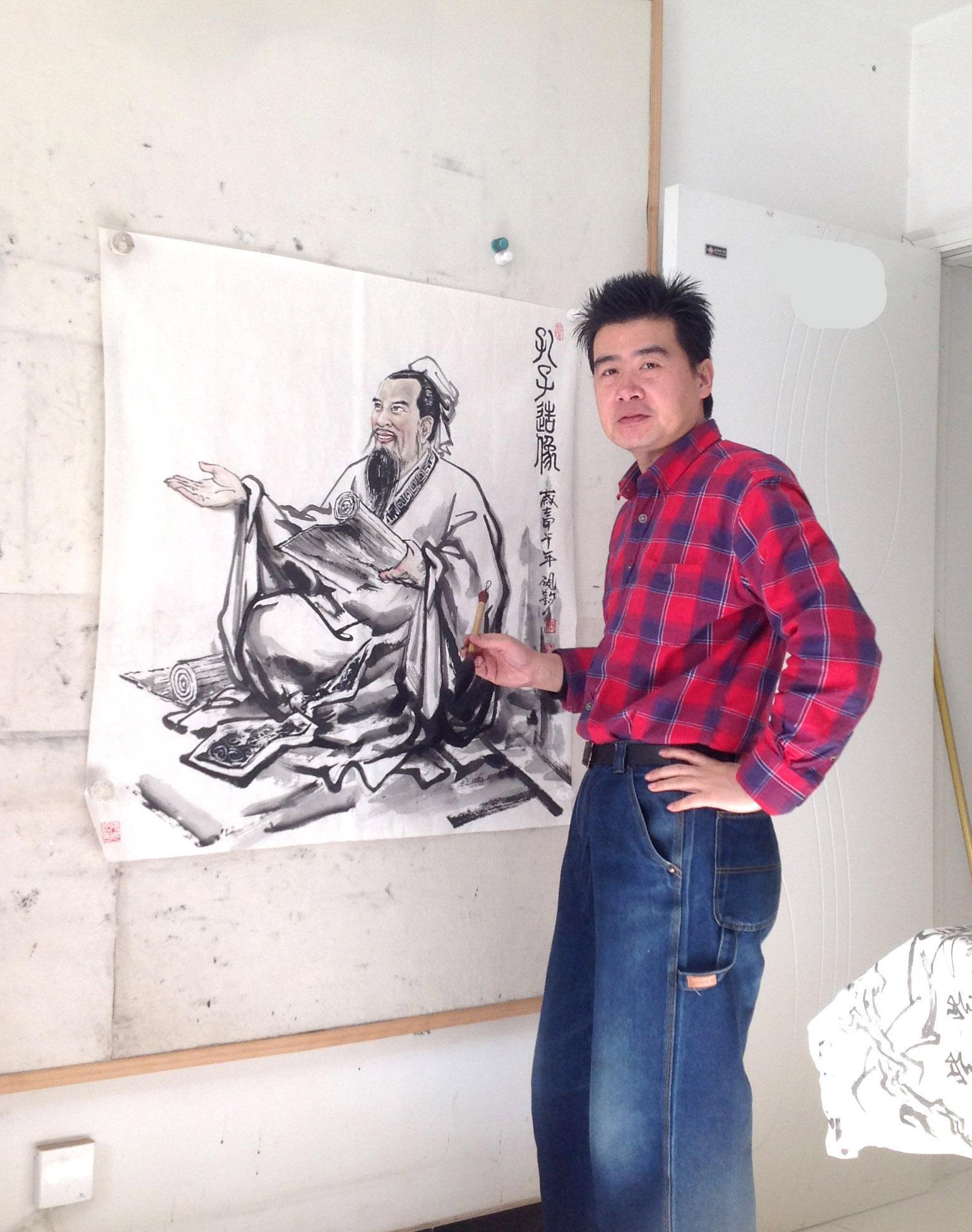 著名画家张砚钧2018新作鉴赏-水墨人物系列
